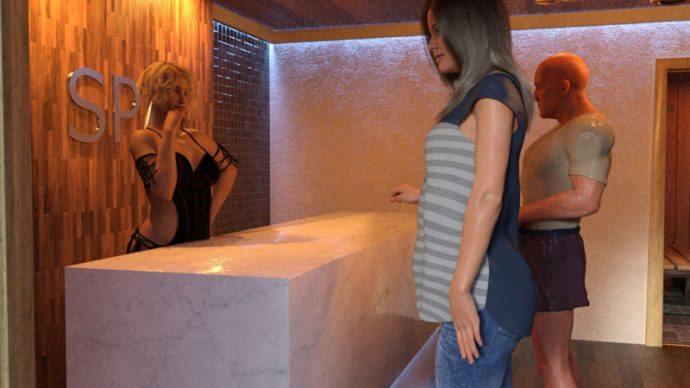 Wyjście do sauny